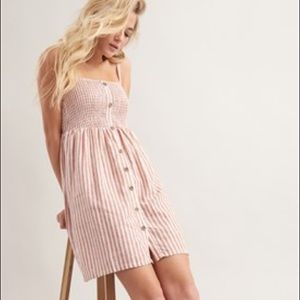 FREE WITH PURCHASE Garage Strapless Linen Dress